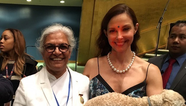 BK Gayatri and Ashley Jodd at UNFPA event - The Time Is Now-scaled