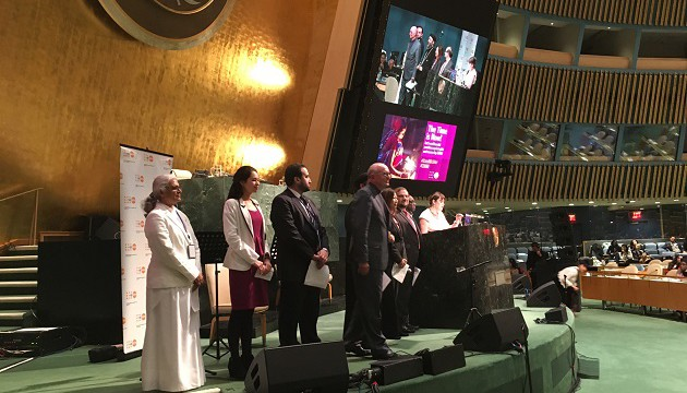 BK representative along with other Faith Traditions at UNFPA Event-scaled