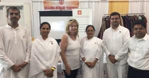 Mayor of Brampton, Hon. Linda Jeffey and BKs Ankur, Prakash, Jarvish, Shweta and Veena