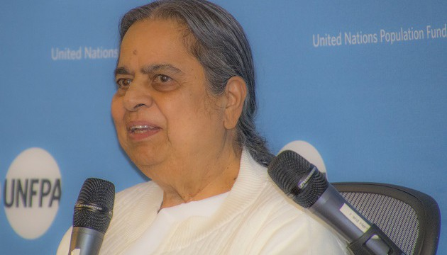 Sister Mohini speaking at IDY event held UNFPA, NY