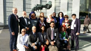 BK Sabita with the Nobel Peace Laureates and other UN dignitaries