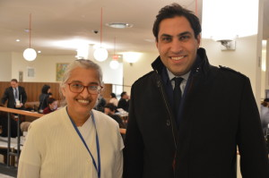 Secretary General Envoy on Youth, Mr. Ahmad Alhendawi and BK Sabita