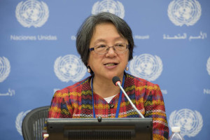 Special Rapporteur on the rights of indigenous peoples Victoria Tauli-Corpuz. UN Photo/Eskinder Debebe