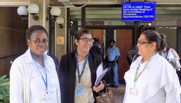 UN Environment Assembly, Nairobi - BKs Pratibha & Dorcas with the Indian High Commissioner