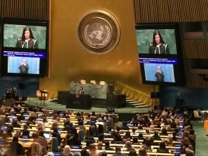 Ms. Monica Ramirez addressing the audience