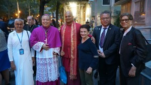 With H.E. Archbishop Auza and NGO members