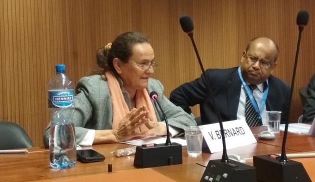 ID Non Violence, Geneva - BK Valerianne speaking