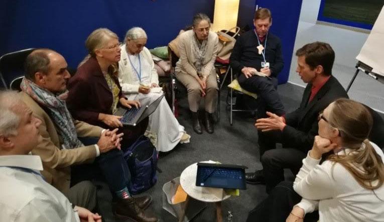 BKs participating in a workshop COP 25