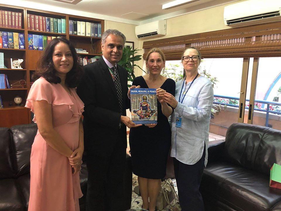 Presenting the Light on Light magazine to the Ambassador of India to the UN, H.E. Syed Akbaruddin.